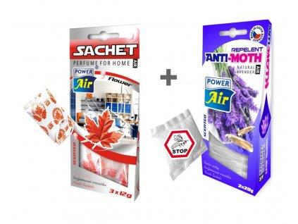 ANTI MOL 2x20g + SACHET vonný sáček 3x12g - Flower