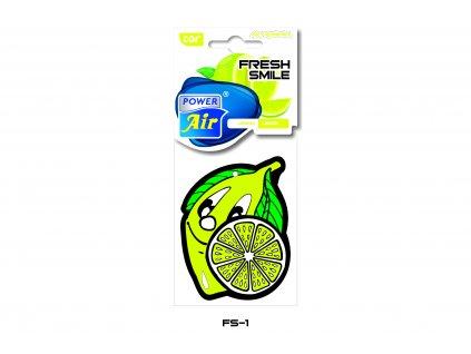 FRESH SMILE papírový osvěžovač - Lemon