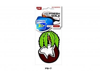 FRESH SMILE papírový osvěžovač - Coconut