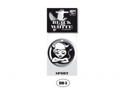 BLACK & WHITE papírový osvěžovač - Lady