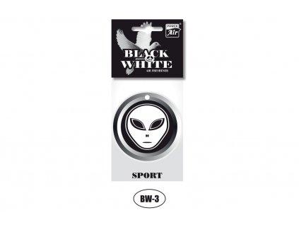BLACK & WHITE papírový osvěžovač - Alien