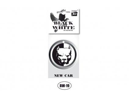 BLACK & WHITE papírový osvěžovač - Dog