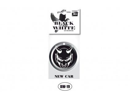 BLACK & WHITE papírový osvěžovač - Evil