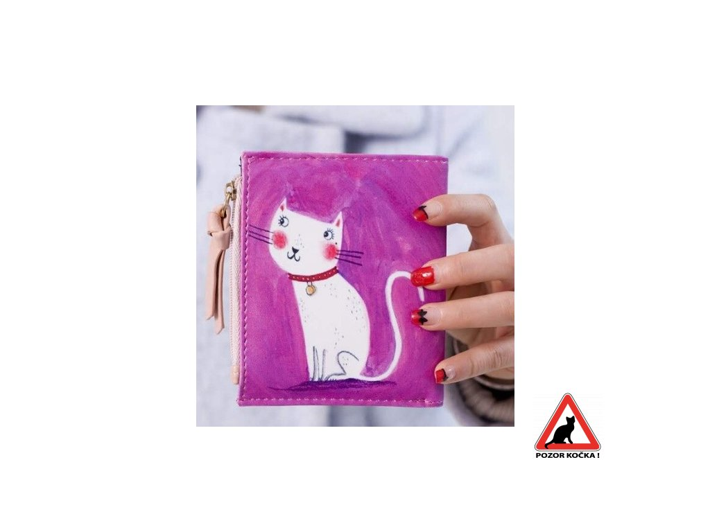 penezenka mala růžová bílá kočka