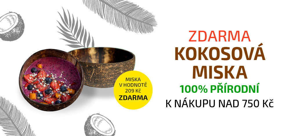 Kokosová miska Natural ZDARMA