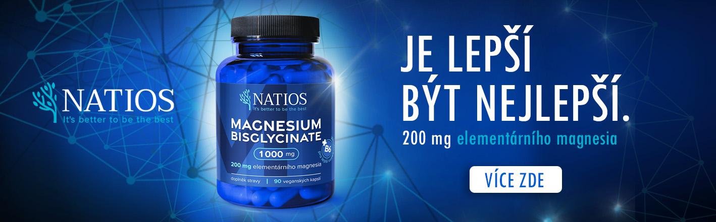 NATIOS Magnesium Bisglycinate 1000 mg + B6, 90 veganských kapslí