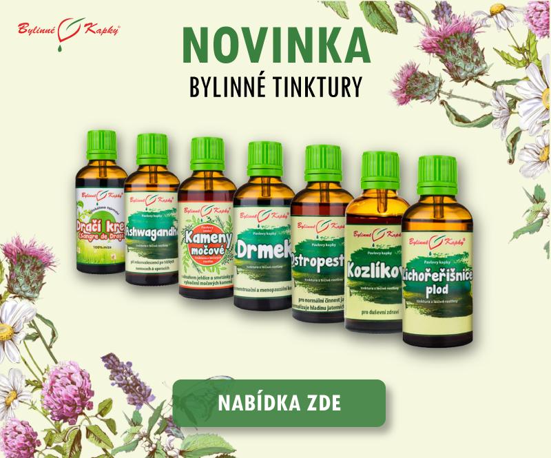 Kvalitní přírodní tinktury z léčivých rostlin