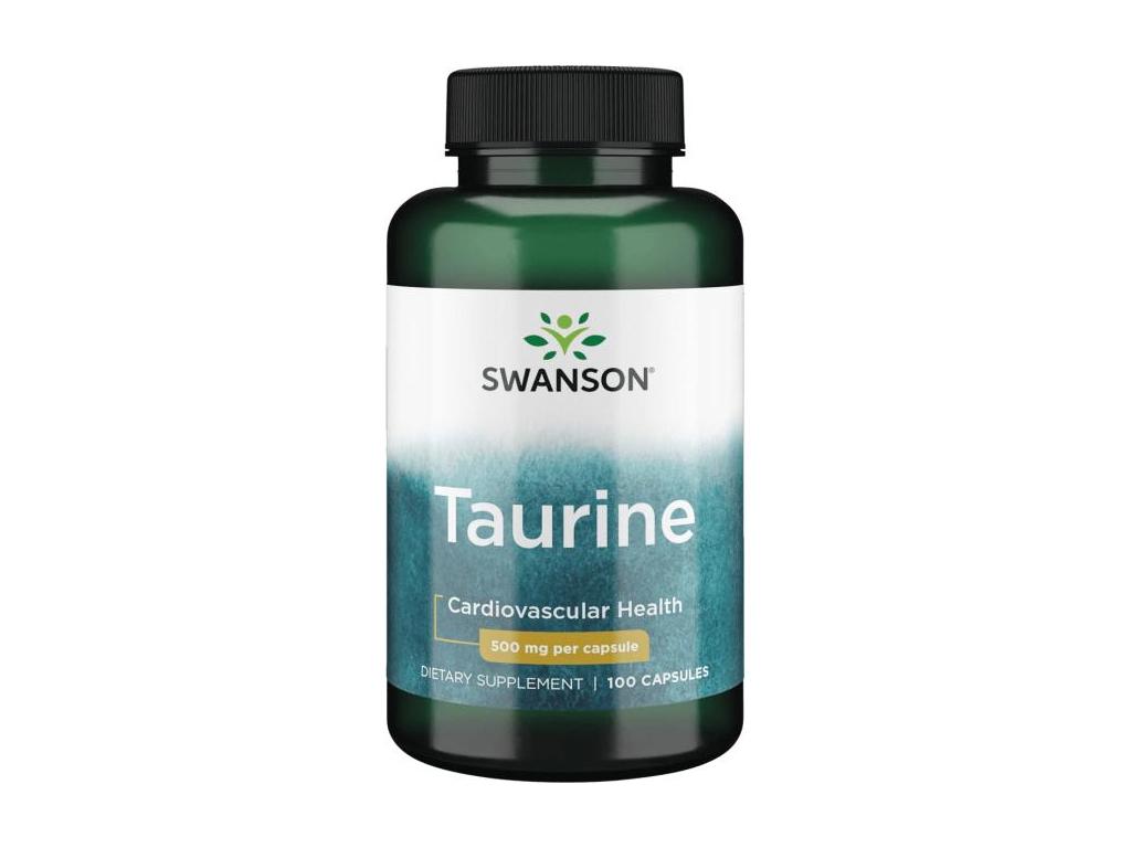 Swanson Taurine 500 mg, 100 kapslí