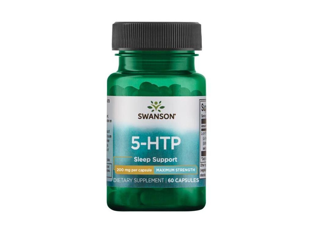 Swanson 5 HTP Maximum Strength, 200 mg, 60 kapslí