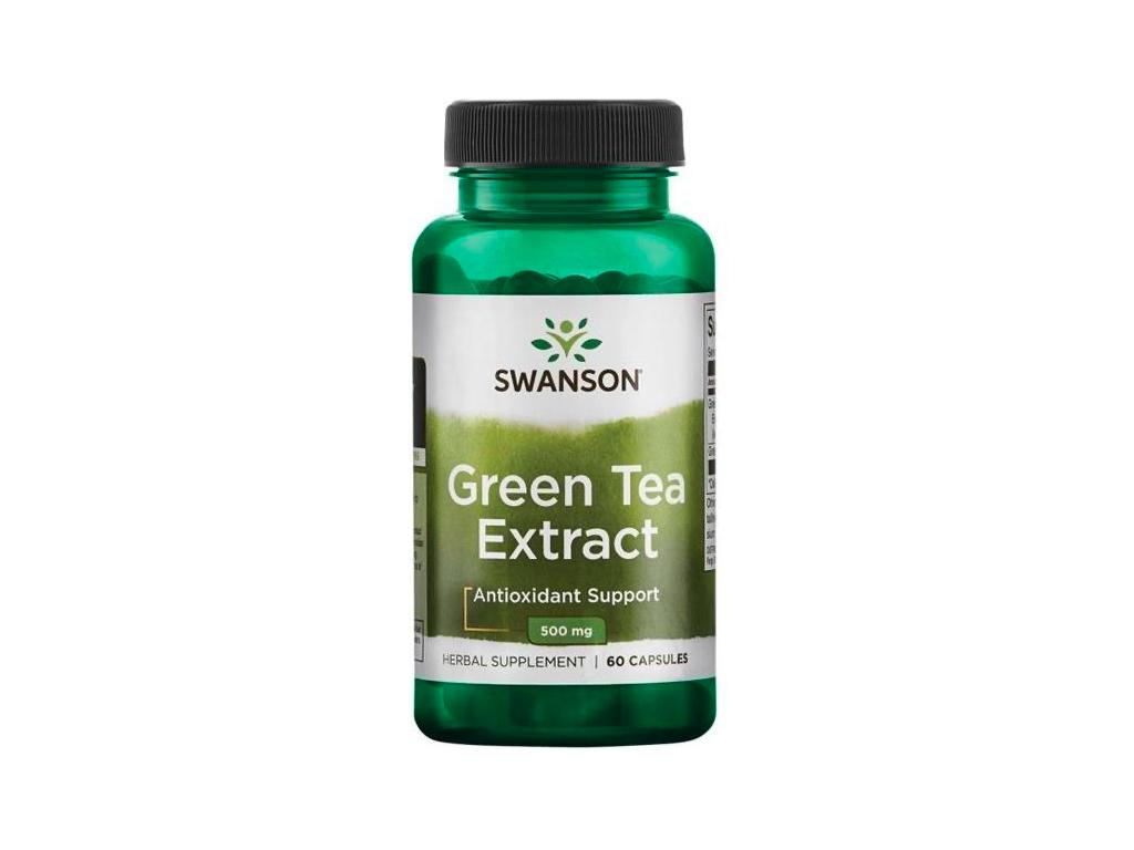 Swanson Green Extract Tea 500 mg 60 kapslí