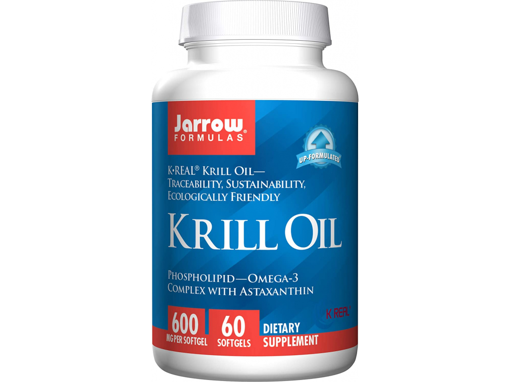 Jarrow Krill Oil, 600 mg, 60 softgelových kapslí