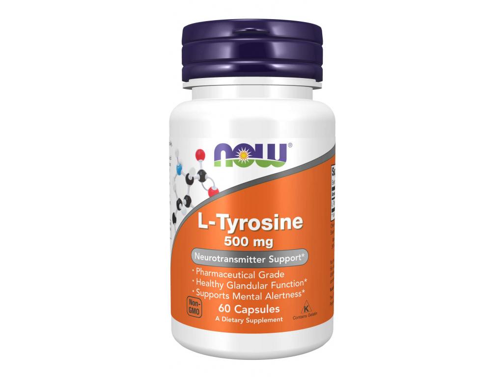 NOW FOODS L Tyrosine, 500 mg, 60 kapslí