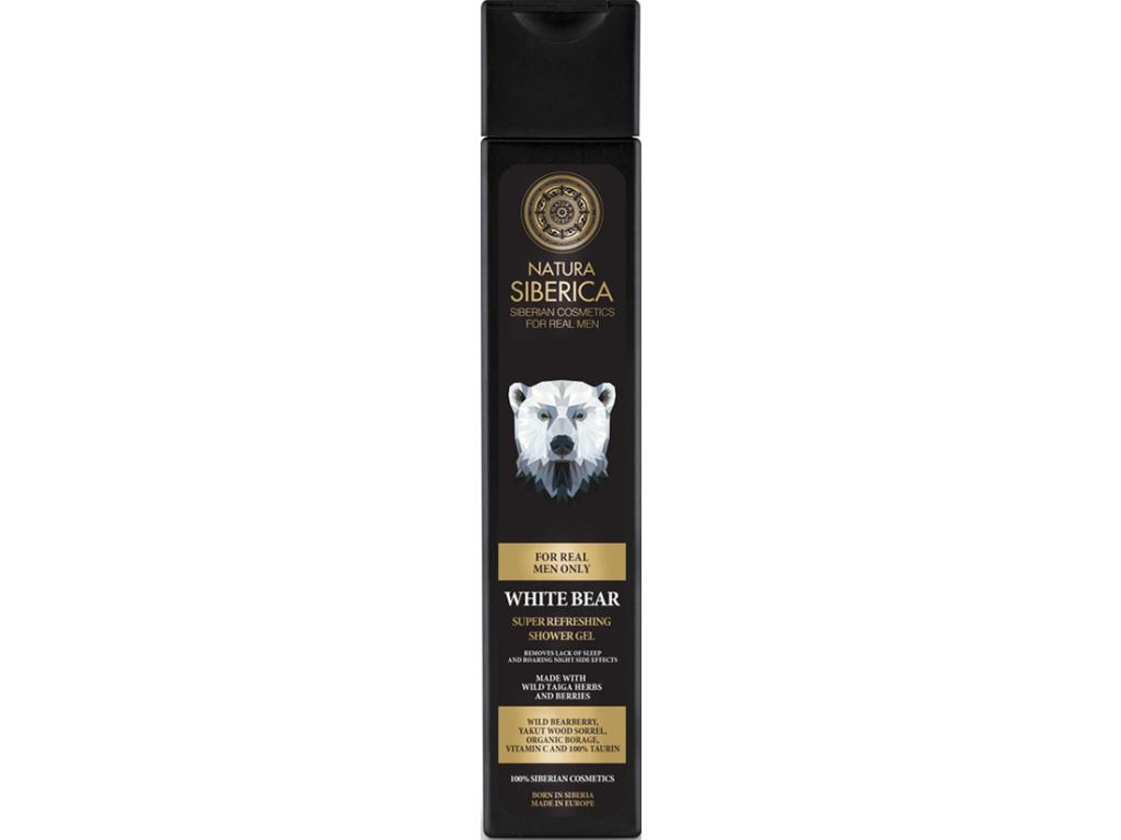 Natura Siberica Men Line osvěžující sprchový gel Bílý Medvěd 250 ml
