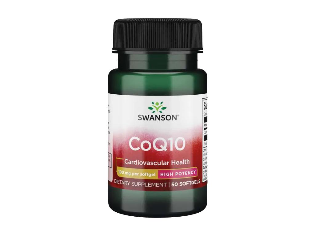 Swanson CoQ10, 100 mg, 50 softgel kapslí