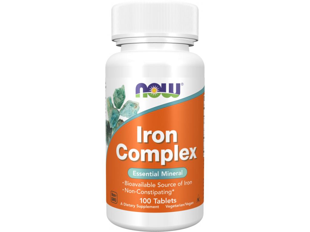 NOW Iron Complex (železo), 100 tablet