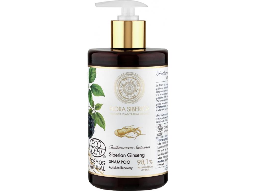 Natura Siberica Flora Šampon pro dokonalé uzdravení poškozených vlasů 480 ml