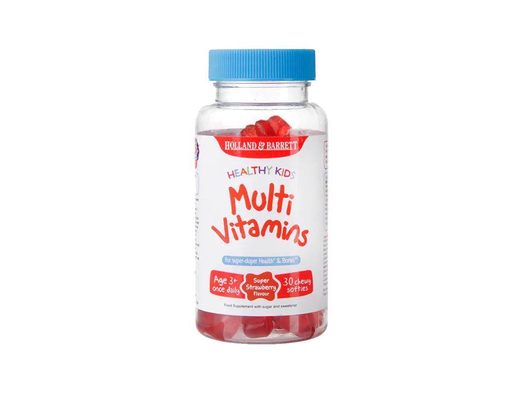 H&B Multivitamin Healthy Kids pro děti, 30 žvýkacích bonbonů