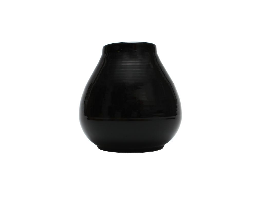 Keramická kalabasa, Černá, 300 ml