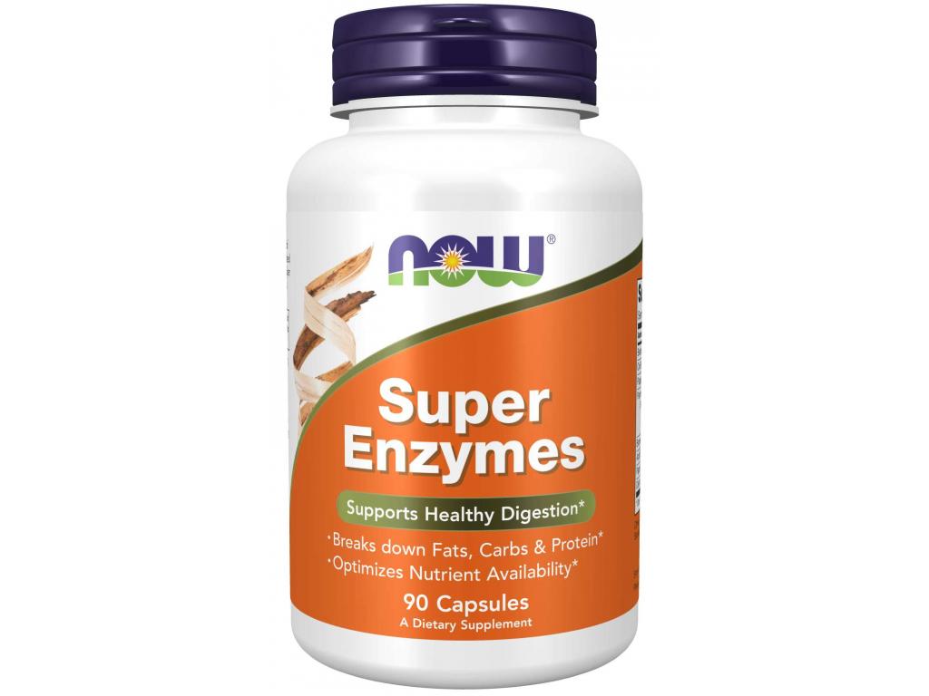 NOW FOODS Super Enzymes, trávicí enzymy, 90 kapslí