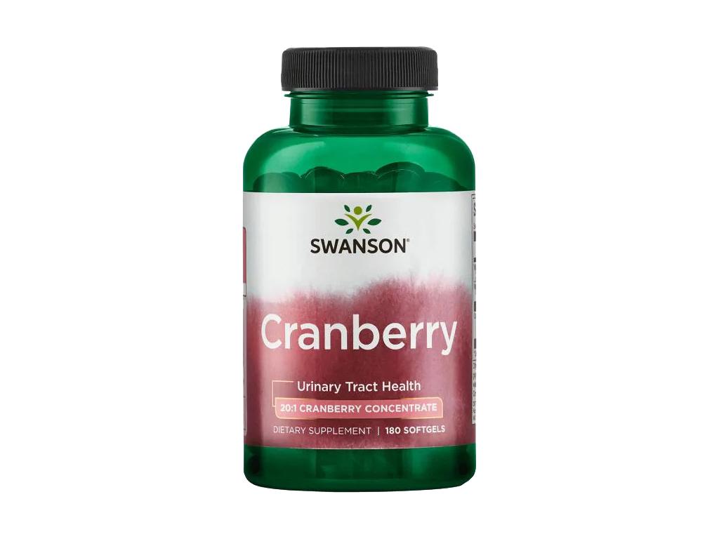 Swanson Cranberry, brusinky, 180 softgel kapslí