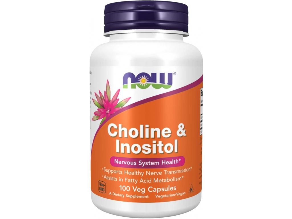 NOW FOODS Choline & Inositol, 100 kapslí