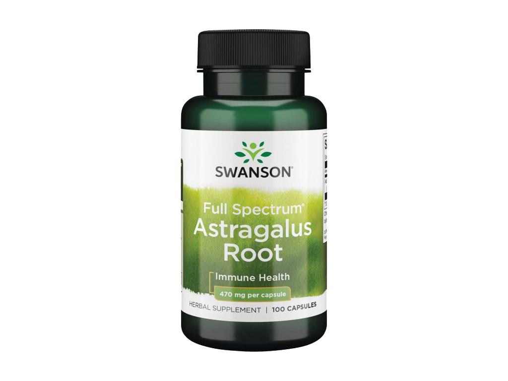Swanson Astragalus Root, 470 mg, 100 kapslí