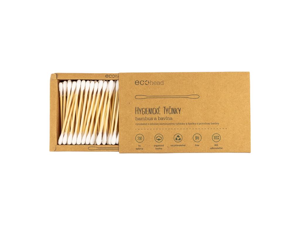Hygienické tyčinky do uší bambus a bavlna