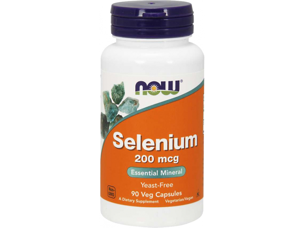 NOW FOODS Selenium 200 mcg, 90 rostlinných kapslí