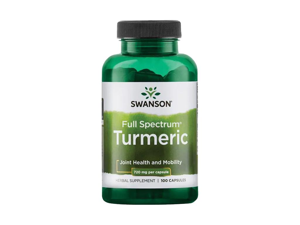 Swanson Turmeric, Kurkuma, 720 mg, 100 kapslí