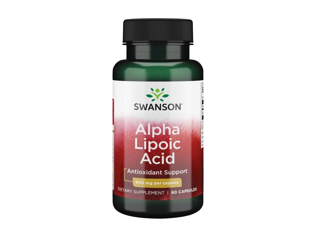 Swanson Alpha Lipoic Acid, 600 mg, 60 kapslí