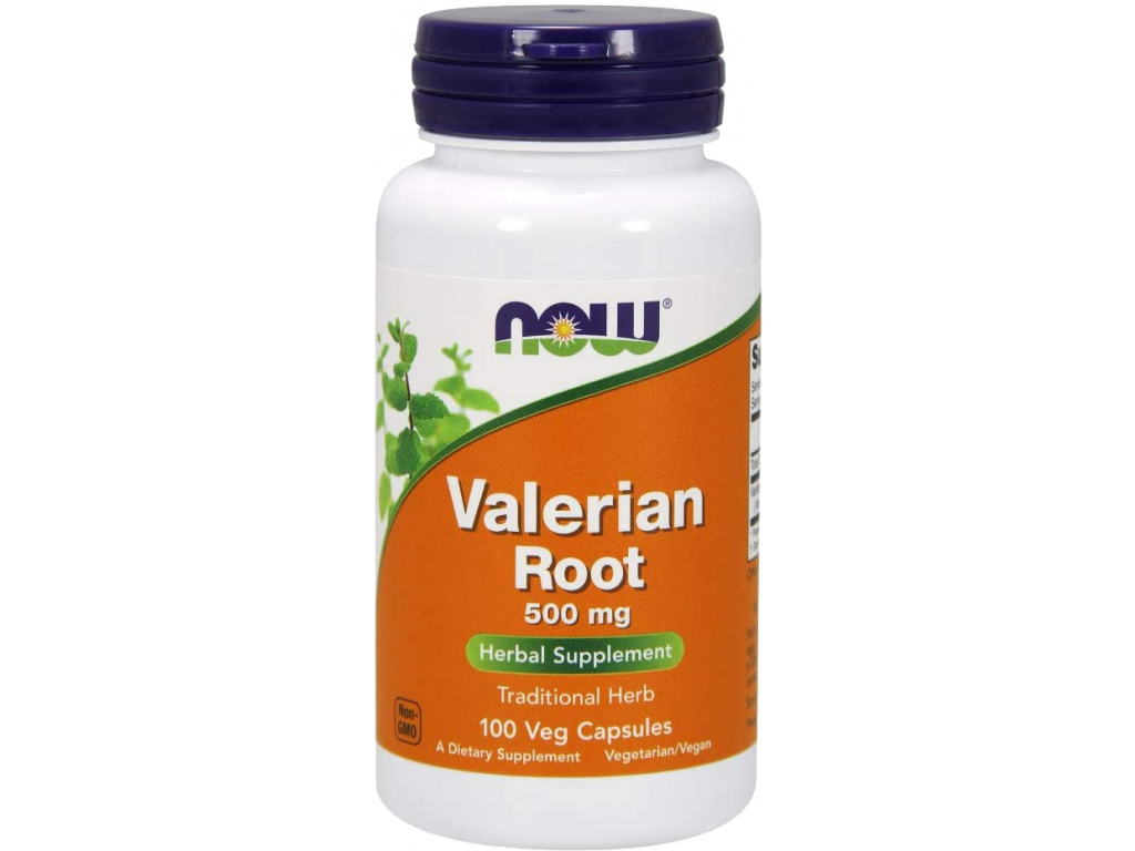 NOW FOODS Valerian Root (Kořen kozlíku lékařského), 500 mg, 100 rostlinných kapslí