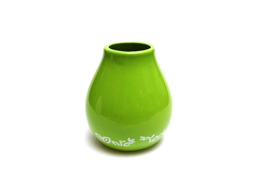 Keramická kalabasa, Zelená s ornamenty, 350 ml 1