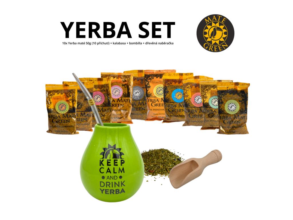 yerba set (zelena calm + Mercedes)