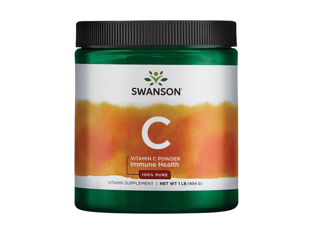 Swanson Vitamin C Prášek, 100% Čistá forma, 454 g