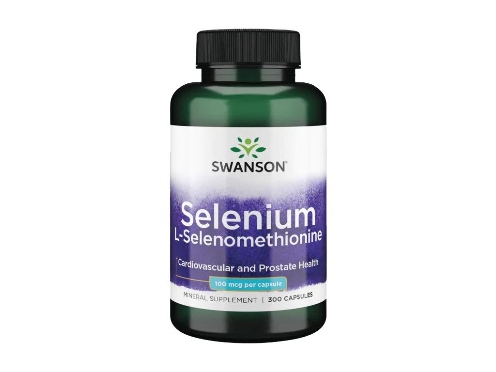 Swanson Selenium L Selenomethionine, 100 μg, 300 kapslí