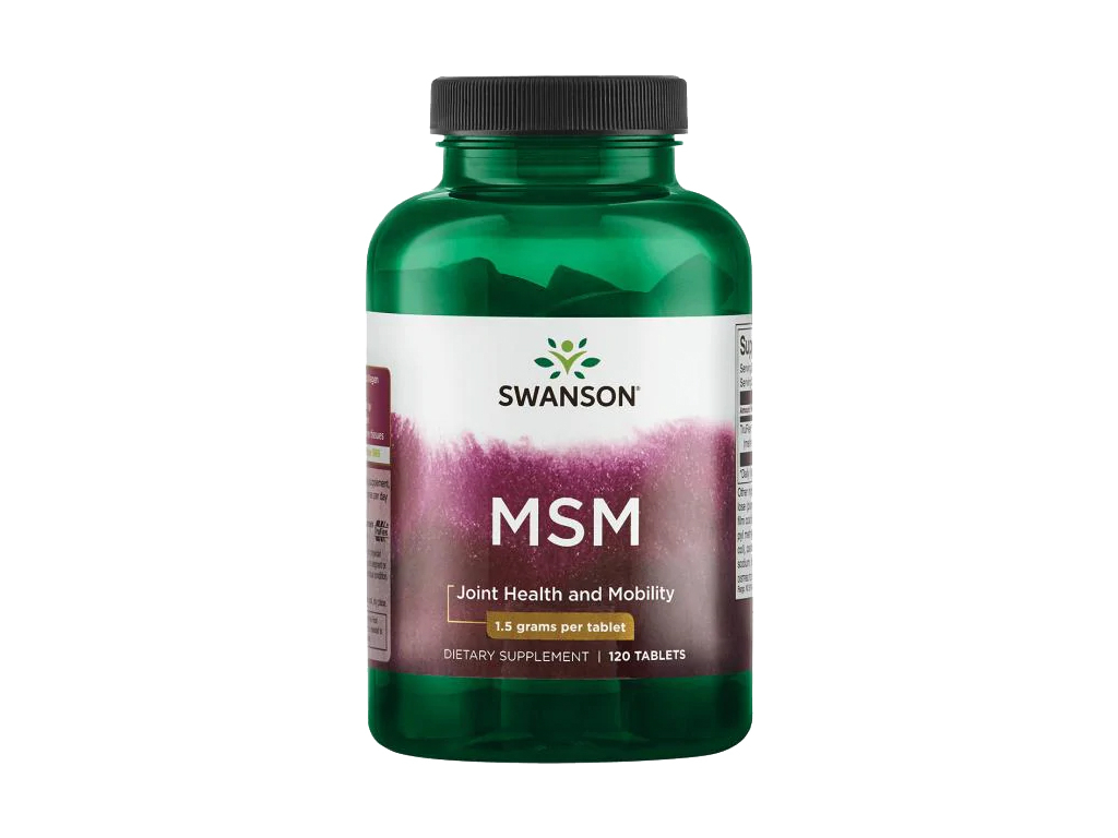 Swanson MSM, 1500 mg, 120 tablet