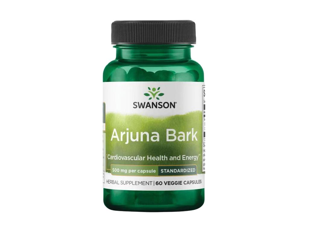 Swanson Arjuna Bark, 500 mg, 60 rostlinných kapslí