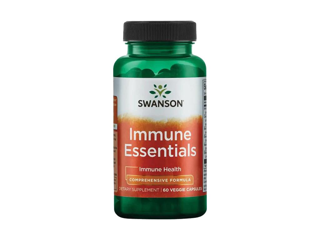 Swanson Immune Essentials, 60 rostlinných kapslí