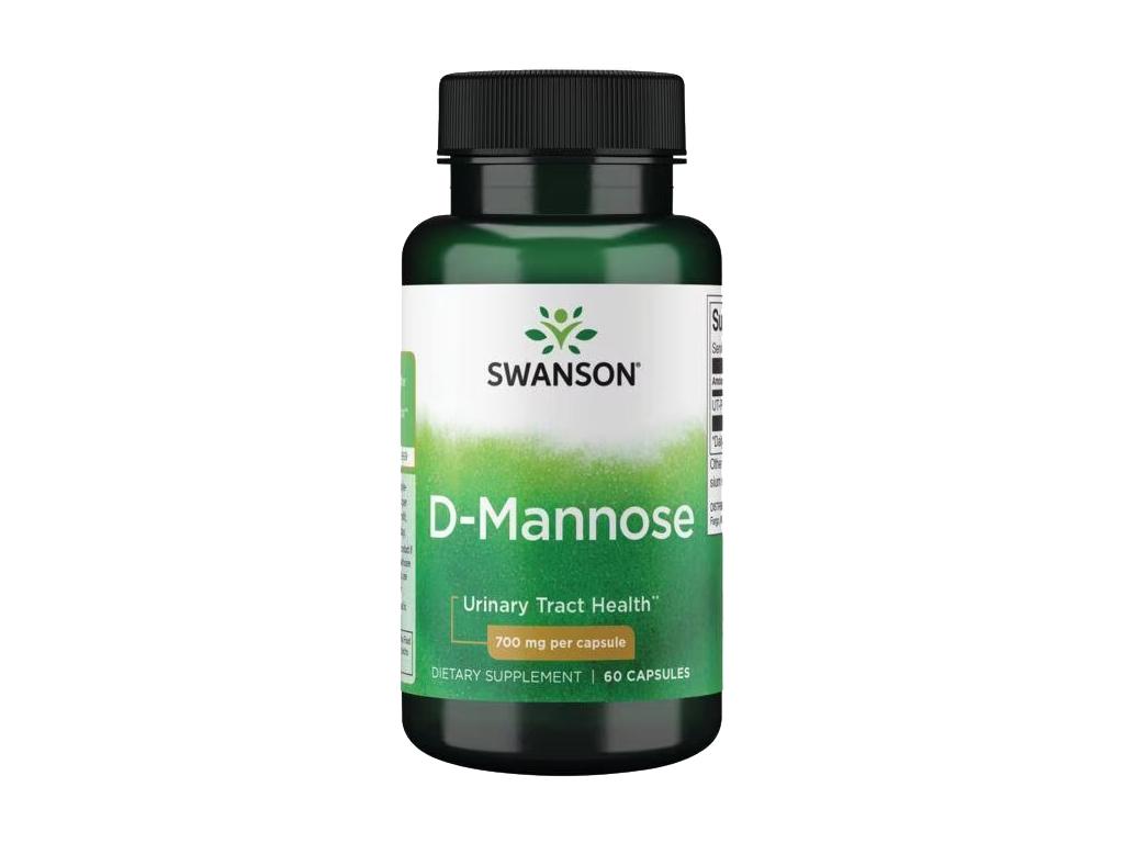 Swanson D Mannose, 700 mg, 60 kapslí