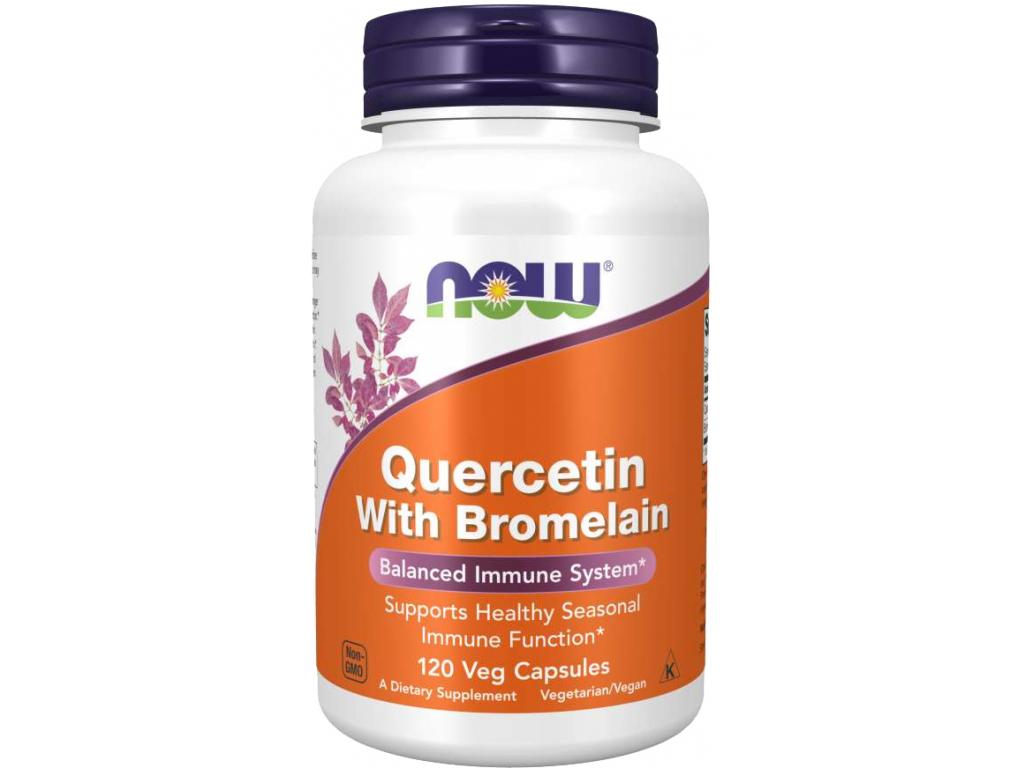 Now Foods Quercetin With Bromelain, 120 rostlinných kapslí