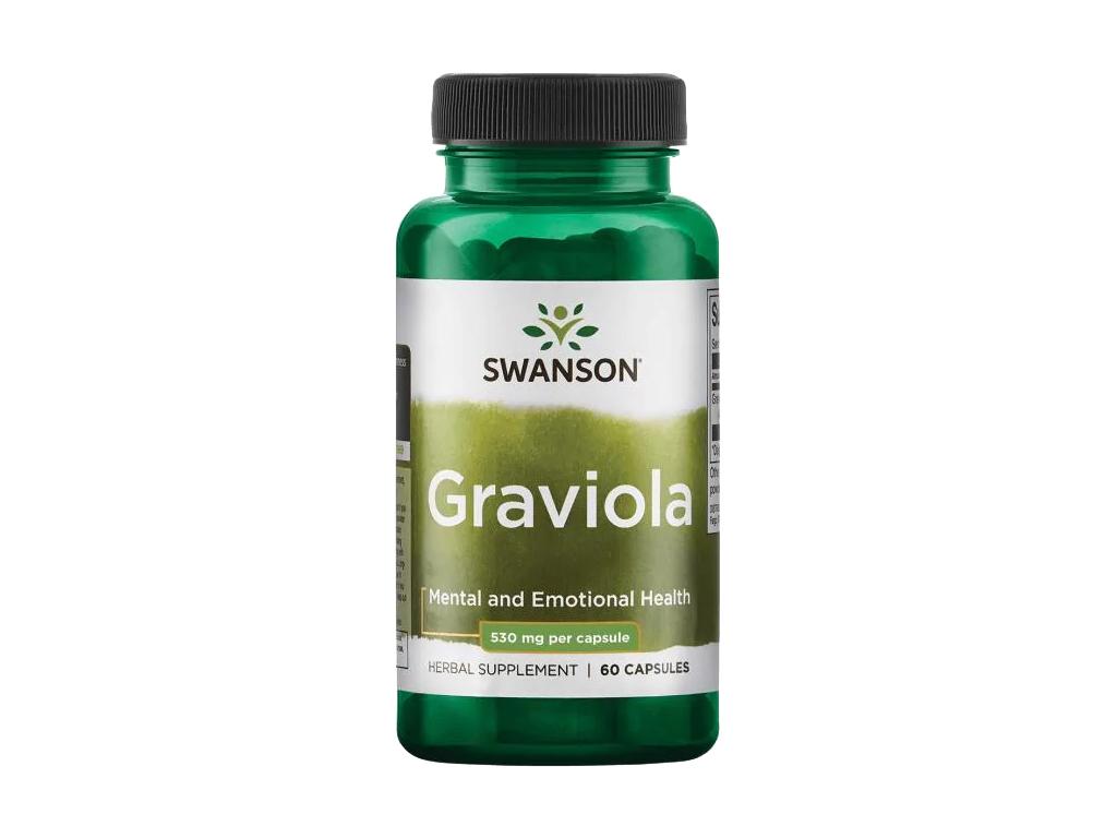 Swanson Graviola, 530 mg, 60 kapslí
