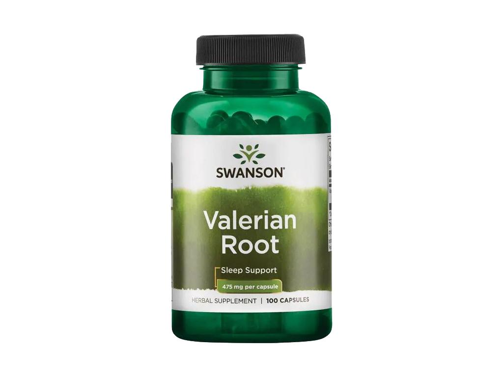 Swanson Valerian Root, Kořen kozlíku lékařského, 475 mg, 100 kapslí