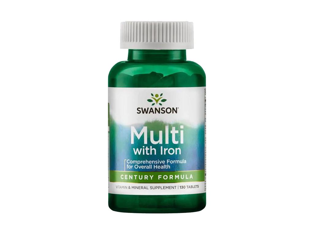 Swanson Century Multi se železem, Multivitamin, 130 tablet