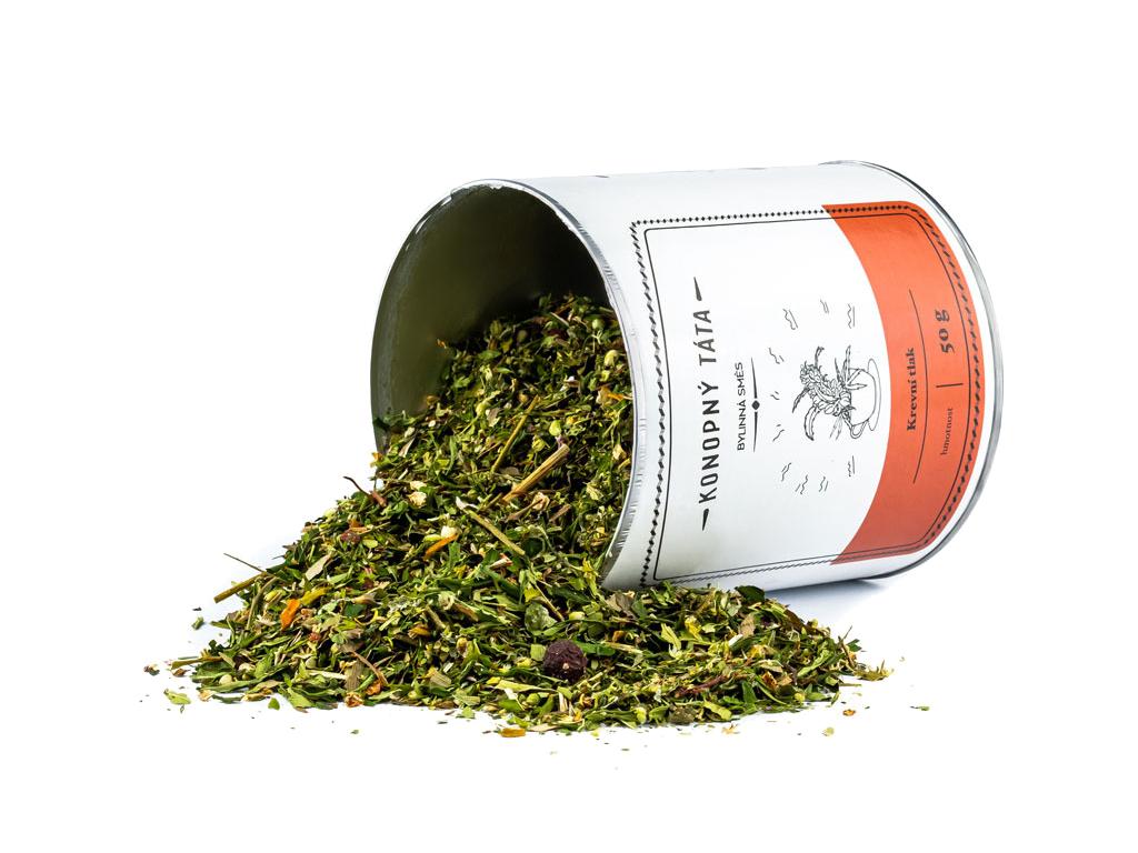 Konopný Táta, Konopný čaj KREVNÍ TLAK, 50 g
