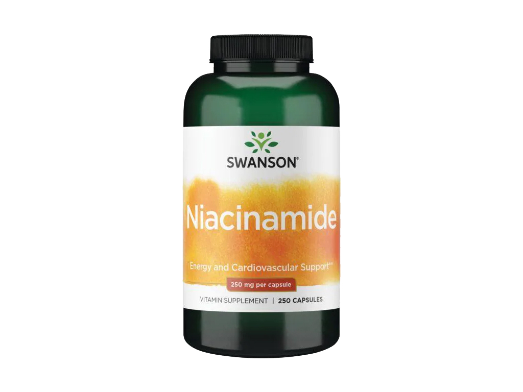 Swanson Niacinamid, Vitamin B3, 250 mg, 250 kapslí