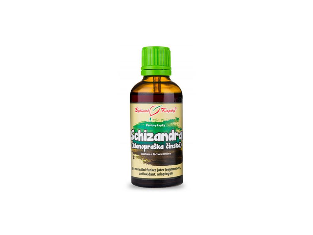Schizandra (klanopraška) bylinné kapky (tinktura) 50 ml 1