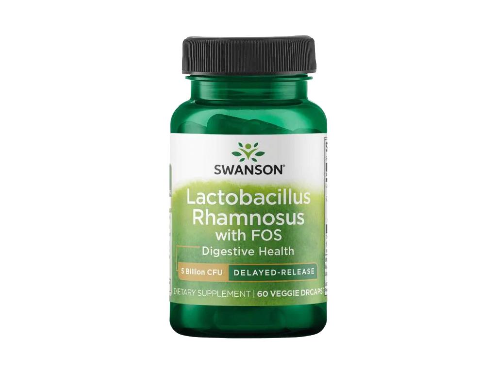 Swanson Lactobacillus Rhamnosus s FOS, 5 miliard CFU, 60 rostlinných kapslí