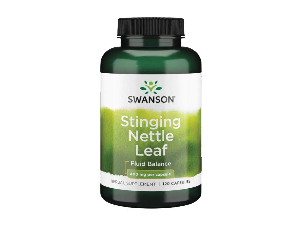 Swanson Stinging Nettle Leaf, Kopřiva dvoudomá, 400 mg, 120 kapslí