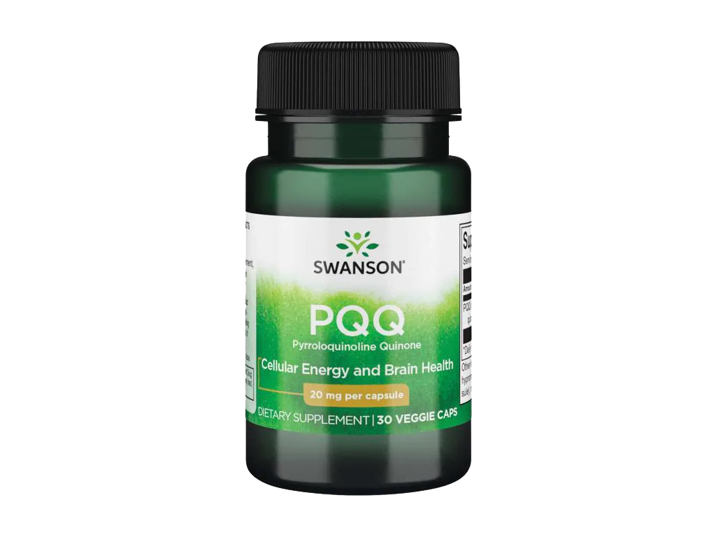 Swanson PPQ Pyrroloquinoline Quinone, 20 mg, 30 rostlinných kapslí