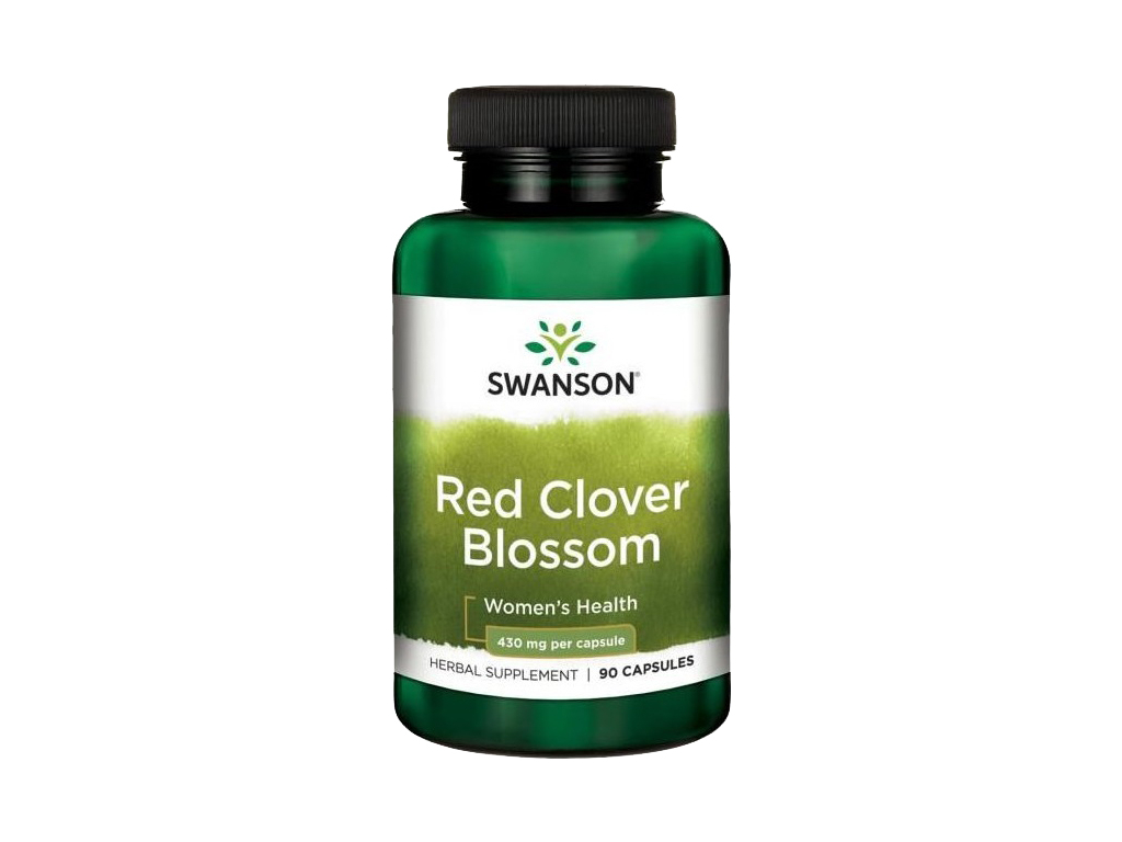 Swanson Red Clover Blossom, Jetel luční, 430 mg, 90 kapslí